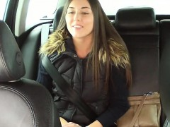 Beautiful Czech babe banged in taxi