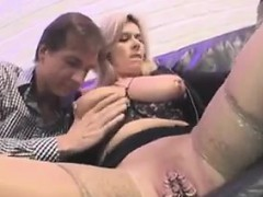 Nasty Granny With Two Guys In A Threesome