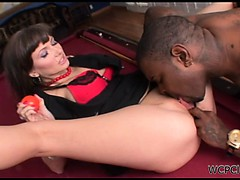 Amazing brunette gets her pussy eaten and fingered