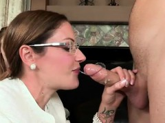 He is loving how they share his cock then they swap tongues