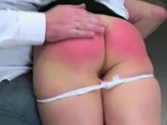 Red spanked asses